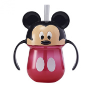 TOMY The First Years Mickey 210ml . Trainer Straw Cup with Handles