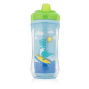 Dr. Brown's Hard-Spout Insulated Cup, Blue Dino, 300ml