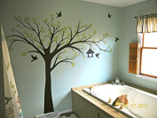Pop Decors PT-0116VL Beautiful Wall Decals, Big Tree with Love Birds, 250cm