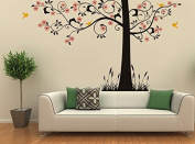 Pop Decors PT-0223-2-Vb Beautiful Wall Decal, Super Elegant Flower Tree