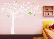 Pop Decors PT-0116VI Beautiful Wall Decals, Big Tree with Love Birds, 250cm