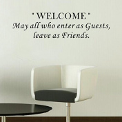 Pop Decors WL-0046-Vb Inspirational Quote Wall Decal, May All Who Enter As Guests