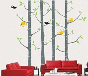 Pop Decors PT-0033VB Beautiful Wall Decals, Owl and Tree