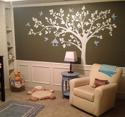 Pop Decors PT-0116-1VF Beautiful Wall Decals, Big Tree with Love Birds, 250cm