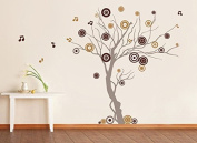 Pop Decors PT-0119VD Beautiful Wall Decals, Music Tree, 200cm