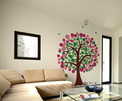 Pop Decors 0063VB Baby Tree Wall Decal Removable Vinyl Wall Sticker, Polka Dot Tree, 210cm