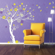 Pop Decors PT-0119VE Beautiful Wall Decals, Music Tree, 200cm