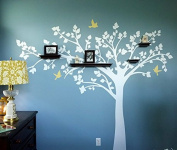 Pop Decors PT-0116-1VH Beautiful Wall Decals, Big Tree with Love Birds, 250cm