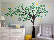 Pop Decors PT-0116VC Beautiful Wall Decals, Big Tree with Love Birds, 250cm