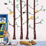 Pop Decors PT-0033VC Beautiful Wall Decals, Owl and Tree