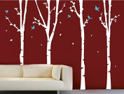 Pop Decors PT-0136-1-Ve Beautiful Wall Decal, Birch Trees