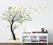 Pop Decors PT-0119VB Beautiful Wall Decals, Music Tree, 200cm