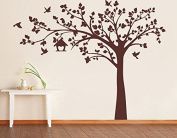 Pop Decors PT-0116-1VG Beautiful Wall Decals, Big Tree with Love Birds, 250cm