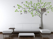 Pop Decors PT-0116VB Beautiful Wall Decals, Big Tree with Love Birds, 250cm