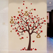 Pop Decors PT-0237-Vc Wall Decal and Sticker, Love Heart Tree