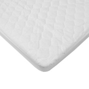TL Care Quilted Waterproof Fitted Mini Crib Mattress Pad Cover