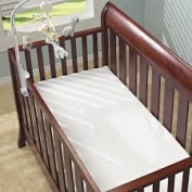 Soft Crib Mattress Protector - Best Fitted, Waterproof, Hypoallergenic Mattress Protector - Machine Washable - Bamboo Fibre Terry Cloth - 130cm X 70cm x 23cm