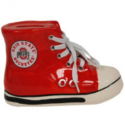 Ohio State Red Sneaker with Laces Bank