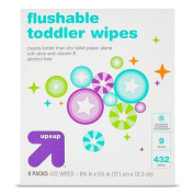 up & up Toddler and Family Flushable Wipes - 432 ct