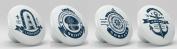 Nautical Sea Icon Ceramic Knobs Set of 4