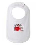 Cute Heart Valentine Baby Infant Baby Bib, 100% combed ringspun cotton 170ml