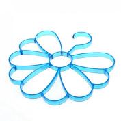 Qianle Flower Shape Scarf Holder/Hanger/Organiser Holder for Leggings Blue