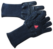 Extreme Heat BBQ Grill Gloves for Baking, Grilling, & Oven Use - Protection Up To 932°, 36cm Long, 2 Gloves