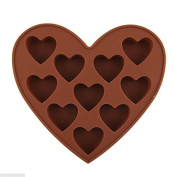 Buytra 10-Cavity Silicone Love Heart Cake Mould Chocolate Jelly Candy Baking Mould
