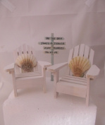 Wedding Reception Adirondack Chairs Beach Real Seahell Cake Topper Sign