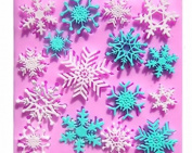 Snowflakes 16 Cavity Silicone Mould for Fondant, Gum Paste & Chocolate