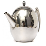 High Quality 1500ml Stainless Steel Teapot Coffee Sliver Cold Water Pot Kettle with Strainer Wholesale Home