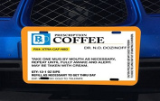 Funny Coffee Caffeine Pill Bottle Aluminium Licence Plate for Car Truck Vehicles
