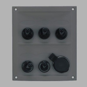 MARINE BOAT 5 WAY SWITCH SPLASHPROOF BLACK PANEL ODM by PactradeMarine