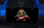 Iron Man Stormtrooper Collab Art Aluminium Licence Plate for Car Truck Vehicles