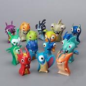 16pcs/lot Movie Cartoon Slugterra Figures PVC Action Figures Dolls Children Toys For Gifts