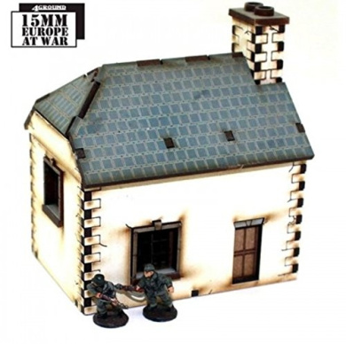 15mm Pre Painted Game Terrain - ( Post ) Napoleonic - Cookhouse