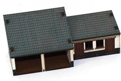 15mm Pre Painted Game Terrain - Age of Black Powder - Piggery