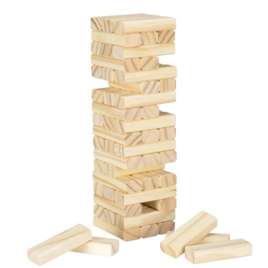 Tabletop Wooden Wobble Stacking Game