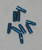 Blue Aluminium Flight Protectors - 3 sets