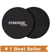 Synergee Gliding Discs Core Sliders. Dual Sided Use on Carpet or Hardwood Floors. Abdominal Exercise Equipment