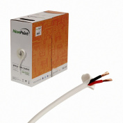 NavePoint 150m In Wall Audio Speaker Cable Wire CL2 16/2 AWG Gauge 2 Conductor Bulk White