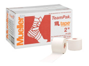 Mueller M Tape Zinc Oxide for Injury Prevention & Joint Stabilisation 100% Cotton in White 5cm x 13.7m 24 Rolls