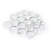 TOAOB Wholesale Clear Cabochons for Jewellery Making Round Glass Dome Cabochons 12mm 10pcs