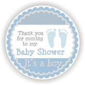 Baby Boy Shower Stickers - It's a Boy Stickers - Favour Stickers - Baby Shower Favour Stickers - Baby Footprint Stickers - Set of 40 Stickers