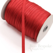 3 Yards of 11mm Tango Red Plush Back Bra Strap Elastic, Made in Italy