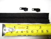 15 YARDS~ YKK Zipper Chain~ 4.5 Coil Chain~MADE IN USA~ BLACK plus 30 YKK Auto Pull sliders-ZipperStop Wholesale Authorised Distributor YKK®