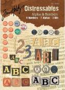 Design Originals - Tim Holtz - Distressables - Alphas and Numbers