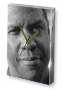 DENZEL WASHINGTON - Canvas Clock (A5 - Signed by the Artist) #js002