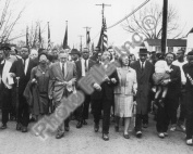 Martin Luther King Jr. leading a black voting rights march in Selma, Ala - 8x10 Glossy Photo