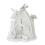 Appletree Design Bethlehem Holy Family Nativity, Lighted, 19cm Tall, Includes Light Bulb and Cord